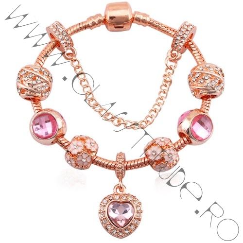 Bratara-cu-Charm-tip-Pandora-cu-Cristale-si-Inimioara-Rose-1