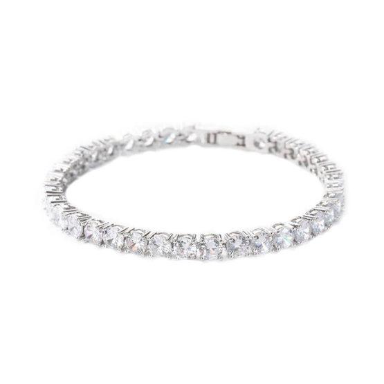 Bratara Tennis cu cristale Zirconiu masura M Argintiu